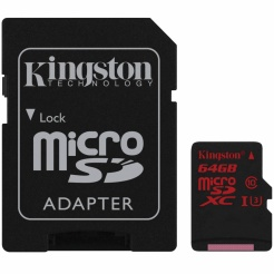 Kingston microSDXC 64GB UHS-1 U3 90R/80W