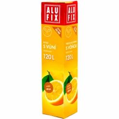 Pytle 120L do odpadkových košů se zatahovací páskou s aroma citronu