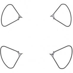 Ochranné oblouky vrtulí pro DJI Phantom 4 Pro Obsidian Edition