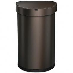 Simplehuman SEMI-ROUND 45L - dark bronze