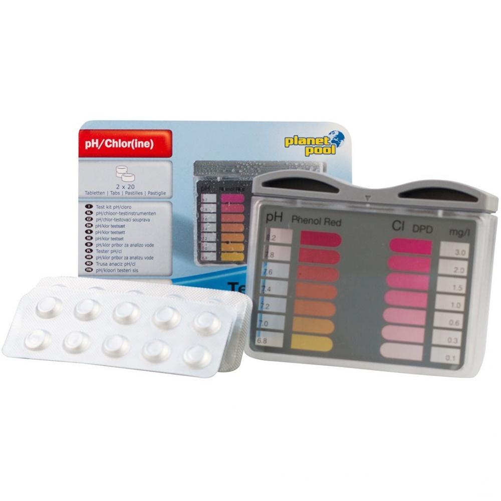 Tester k měření pH/Cl + 2x20 tablet