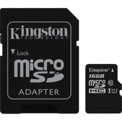 Paměťová karta Kingston microSDHC 16GB UHS-1 U1 90R/45W