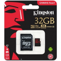 Paměťová karta Kingston microSDHC 32GB UHS-1 U3 100R/70W