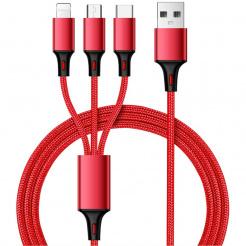 Nabíjecí a synchronizační USB kabel 3v1