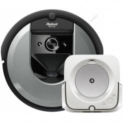 iRobot Roomba i7 silver a Braava jet m6