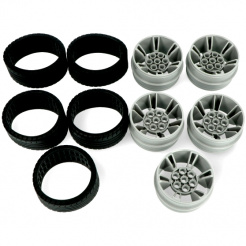 Sada náhradních kol a pneumatik pro Abilix