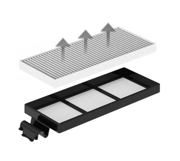 Dvojitá filtrace - HEPA design filtr zachytí i jemný prach a alergeny