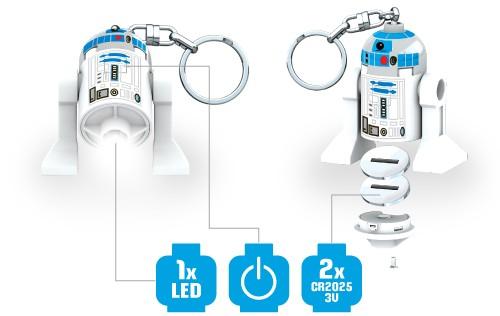 Představení svítící figurky LEGO Star Wars R2D2