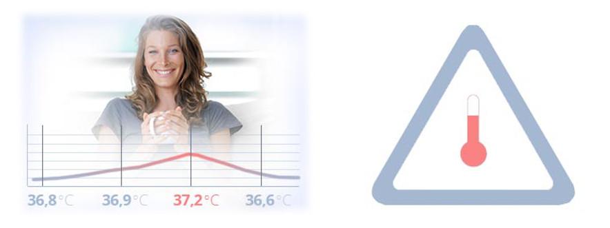 Upozornění na zvýšenou teplotu